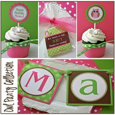 This was for a little girl's first birthday, but still cute. Owl themed as well.