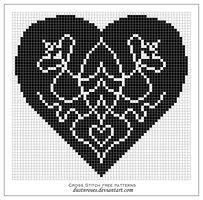 Free pattern: art nouveau heart by dustnroses