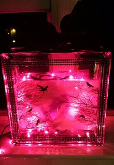 Glass Block Crafts on Pinterest Night Lights, Glasses and Baby Feet