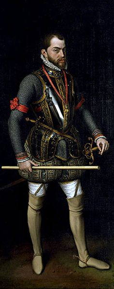 Philip II of Spain,1554 – 1598, Anthonis Mor.  (sender of the  Spanish Armada)