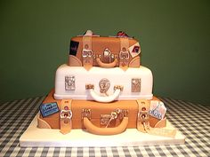 Suitcases Cake neat idea, suitcas cake, luggag cake, cake idea, cakes, cake makingdecor, bakeri cakeri, suitcases, eat cake