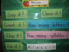 Mrs. Albanese's Kindergarten Class: KOD Name