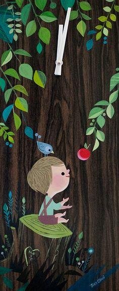 Joey Chou: The Giving Tree clock