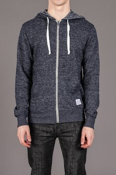 Marled French Terry Zip / Vive