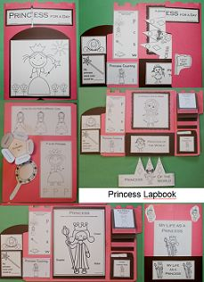 I have a princess lapbook to 1 - 2 - 3 Learn Curriculum..... Have fun working on and putting together a lapbook that will have the children playing with it all the time.  This lapbook includes all the templates to put together a princess lapbook.  Included: My Life as a Princess book(2 templates) Vocabulary Words Flip Book Princess Color Sheet - Match the words to the pricess items Princess crown Princess counting mini book 1 - 5 and more  Thank you for viewing! Jean 1 - 2 - 3 Learn Curriculum crown princess, color sheet, princess color, templat, princess crowns, flip book, book princess