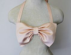 Bow Bikini. A great way to conceal my flat chest.