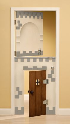 love this door for a kids room, just need a solid core door, scrap wood and some paint!