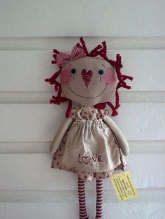 *RAGGEDY ANN ~ Primitive Rag Doll by MeffyAnnies on Etsy, $25.00