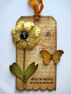 old book crafts, tag, craft stores, paper flowers, diy gifts, handmade gifts, hand made, studio 490, old books
