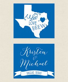 Let Love Brew  Any State Wedding Koozie  Wedding by PaperLeigh, $77.00