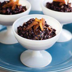 purpl rice, rose water, purple, puddings, dates
