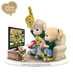 Precious Moments Green Bay Packers Fan Porcelain Figurine...I want this!!!!