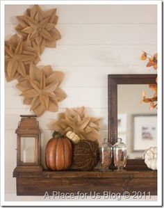 "Brown paper flowers from ""A Place For Us"" blog"