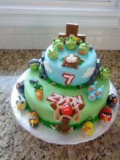 Angry Birds Birthday Cake bird birthday, angry bird bad piggie, angri bird, birthday cakes