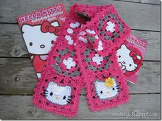 A Hello Kitty scarf, if only I had a bit more skill I would love to give this a go!