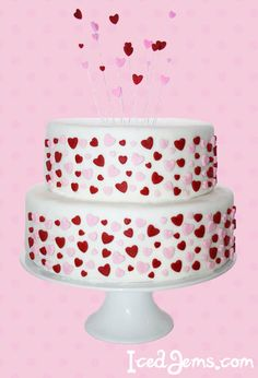 Valentine's day Hearts Cake