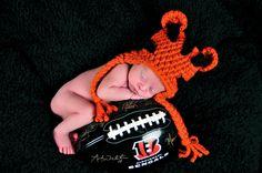 Custom Order Tiger Hat photo prop sz nb. $20.00, via Etsy. Newborn and Baby Photography props #Snipits #Snipitsink #DesiraeJonesPhotography
