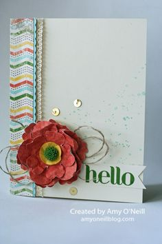 Stampin' Up! CAS: Farewell Fancy Flower by Amy O'Neill
