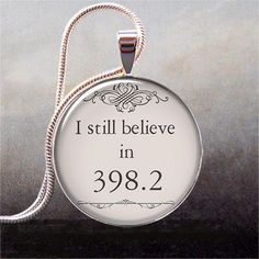 398.2 is the fairy tale section for the Dewey Decimal System -- an adorable and unusual pendant for fairy tale lovers. <3