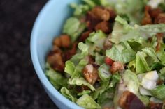 Chopped Salad with Bacon Honey Mustard