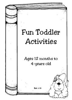Toddler Activity Book