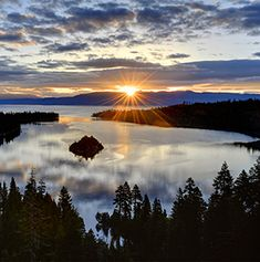 """Travel+Leisure named Lake Tahoe one of America's most beautiful lakes. It's not hard to see why Mark Twain pronounced Lake Tahoe the """"fairest picture the whole earth affords."""""""