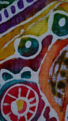 Batik w/ glue and fabric paint - art project idea (original artwork)
