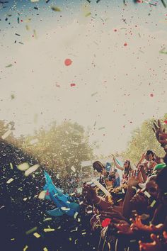 This is how life treats us rn. We should have a constant confetti cloud over our heads.