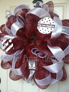 Texas A Aggie  Mesh Wreath.