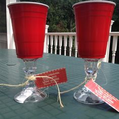 Redneck wine glasses @Brittany Stephens