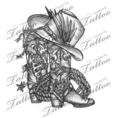 Marketplace Tattoo Cowboy Boot #13868   CreateMyTattoo.com