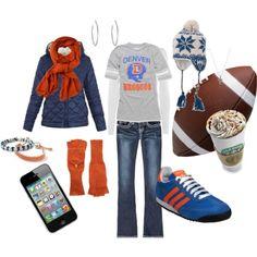 fashion, cloth, style, bronco babi, bronco game, denver broncos, sport, closet, football outfits for women