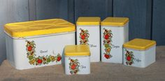 Vintage Metal Canisters by MyVintageLane on Etsy, $42.00