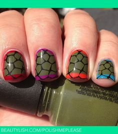 Ninja Turtle Nails | Nicole M.'s (PolishMePlease) Photo | Beautylish