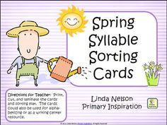 Classroom Freebies: Spring Syllable Sorting
