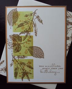 Stampin Up - Card using French Foliage