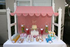 Cute carnival idea for a kids birthday!