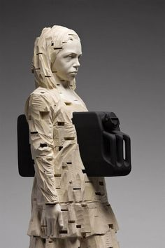 Fantastic Wood Sculptures by Gehard Demetz | Inspiration Grid | Design Inspiration