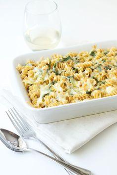 Spinach Artichoke Dip Pasta #artichokes #casseroles