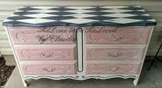 """ReDone To Be ReLoved: """"Harley"""" The Harlequin Painted Dresser"""