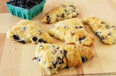 Dark Chocolate Blueberry Scones by www.whatscookingwithruthie.com