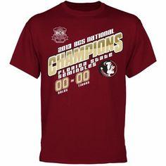 Florida State Seminoles (FSU) 2013 BCS National Champions Type Score T-Shirt - Garnet #BCS bcs championship, bcs bowl, bcs nation, bowl champion, champion apparel, bleed garnet, florida state seminoles, champion trophi, 2013 bcs
