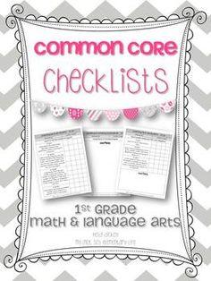 Common Core Checklists