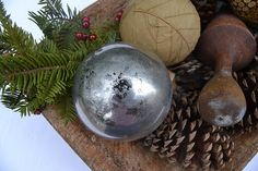 Homemade Mercury Glass Ornaments: Tutorial on Site