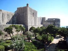 Croatia  garden outside fort
