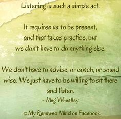 Listening quote via www.MyRenewedMind.org