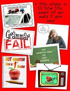 Grammar Fail! Bulletin Board or Literacy Center image 2