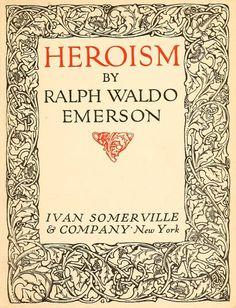 emerson essay heroism