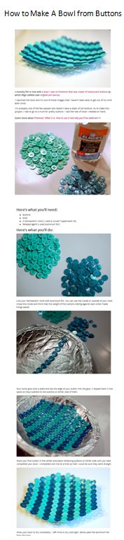Make a Bowl from Buttons