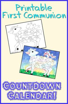 Have kids count down the days until they make their First Holy Communion with this printable Countdown calendar! (In the shape of the Lamb of God) Free for a limited time!